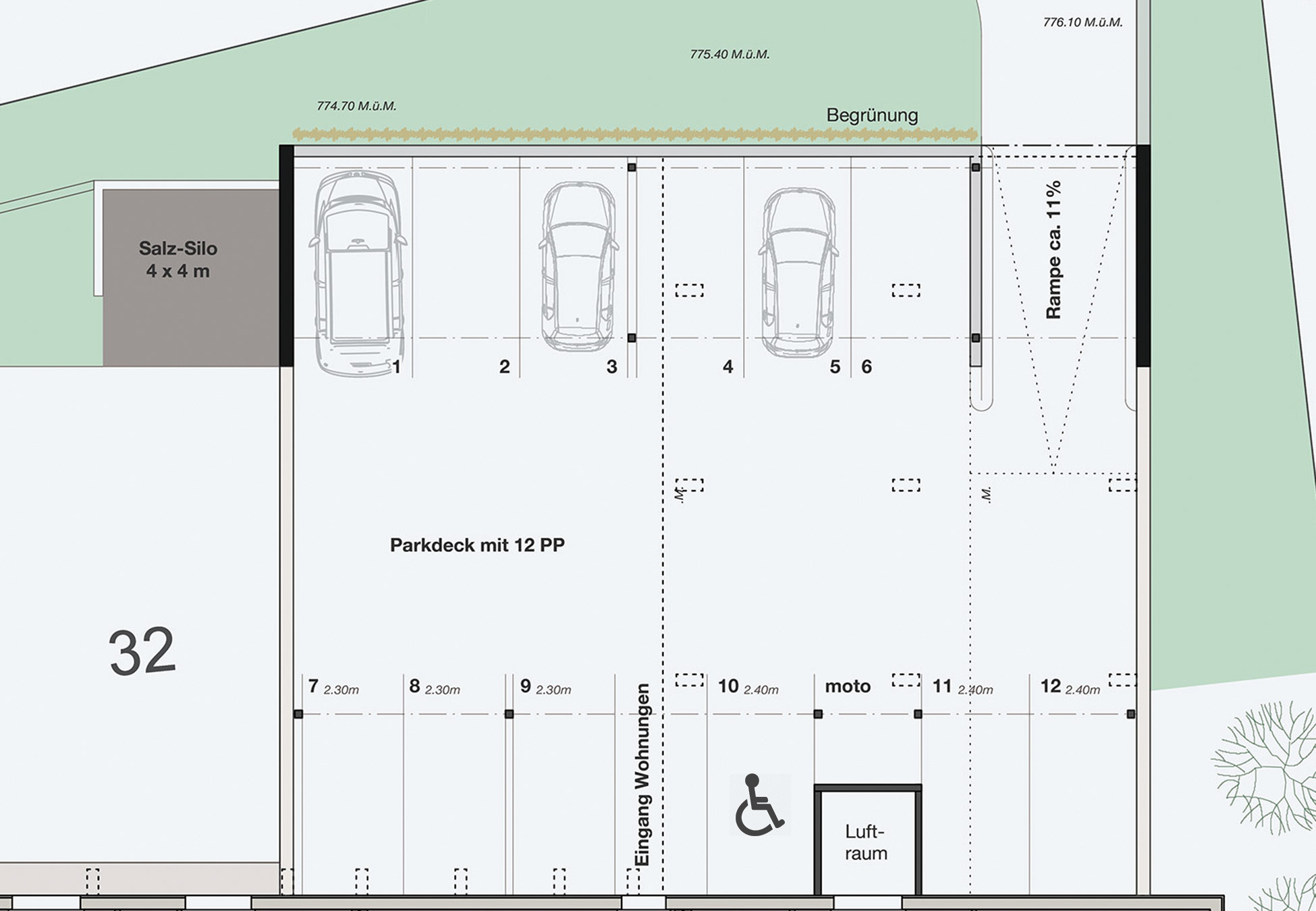 Parkplatz Abmessungen Norm